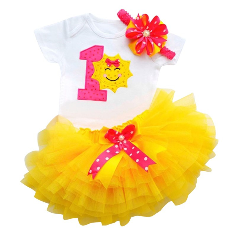 Newborn Baby Girl Sets Tutu Cake Smash Outfits Gift For Girls Clothes 1 Year Birthday Party Wear Baby Clothing Sets 12 Months hot pink tutu first birthday party outfits baby born clothing sets baby girl baptism clothes glitter bebes infant sets suits