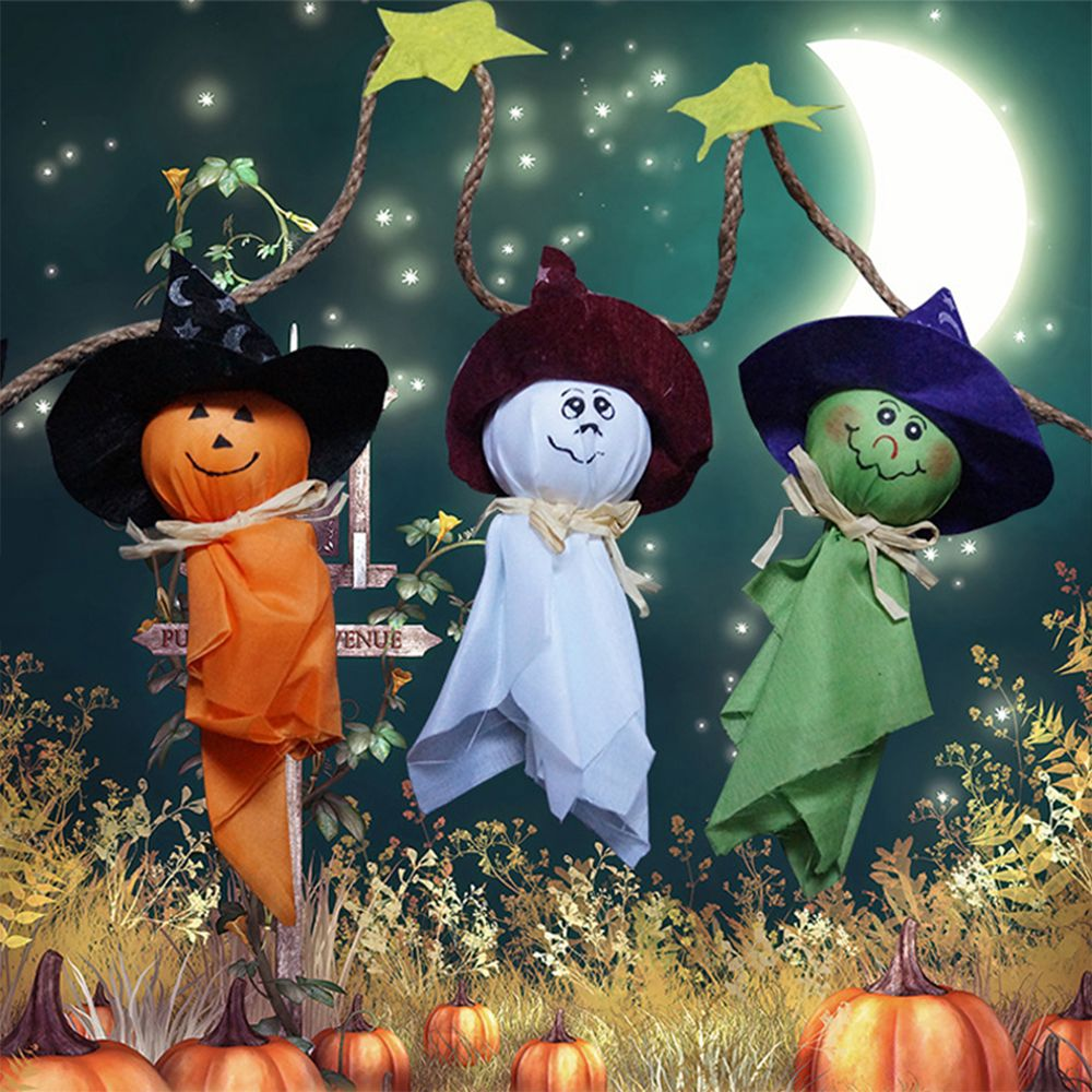 Diy halloween ghost3 - 1 Piece New Arrival 102 Cm Halloween Ghost String Flag Halloween Hanging Drop Halloween Decoration Home