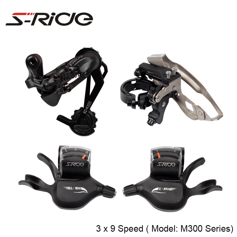 S-Ride M300 Series Cycling Mountian Bike 3 x 9 Speed Front / Rear Derailleur + Trigger Shifter Compatible SHIMANO Bicycle Parts west biking bike chain wheel 39 53t bicycle crank 170 175mm fit speed 9 mtb road bike cycling bicycle crank