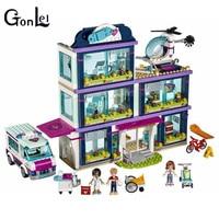 GonLeI 01039 Friends Heartlake Hospital Ambulance Block Set Olivia Compatible With 41318 Girls Toy 932Pcs
