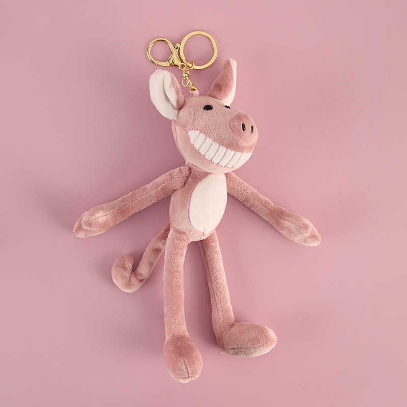 Bonito Piggy Porco Chaveiro Criativo Chaveiro De Pelúcia Saco Da Bolsa Pingente Encantos Divertido Anel Chave Amantes Melhor Presente Mulheres kpop Acessórios