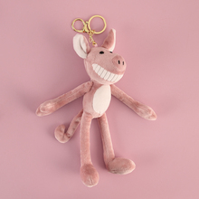 Cute Pig Key Chain Creative Piggy Key Chains Plush Bag Pendant Purse Charms Fun Key Ring Lovers Best Gift Women Kpop Accessories цена и фото