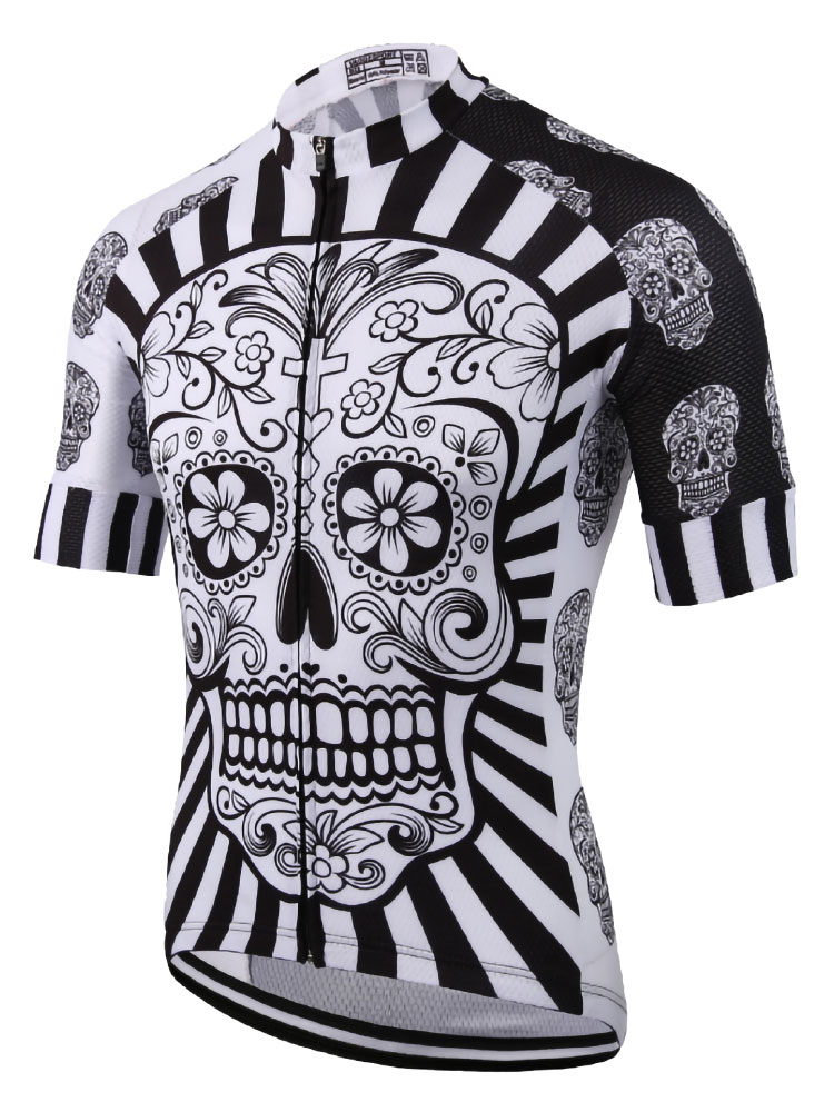 Bicycle-Shirt Bike-Wear Cycling-Jersey Skull Sublimation-Printing Summer Best Pro White