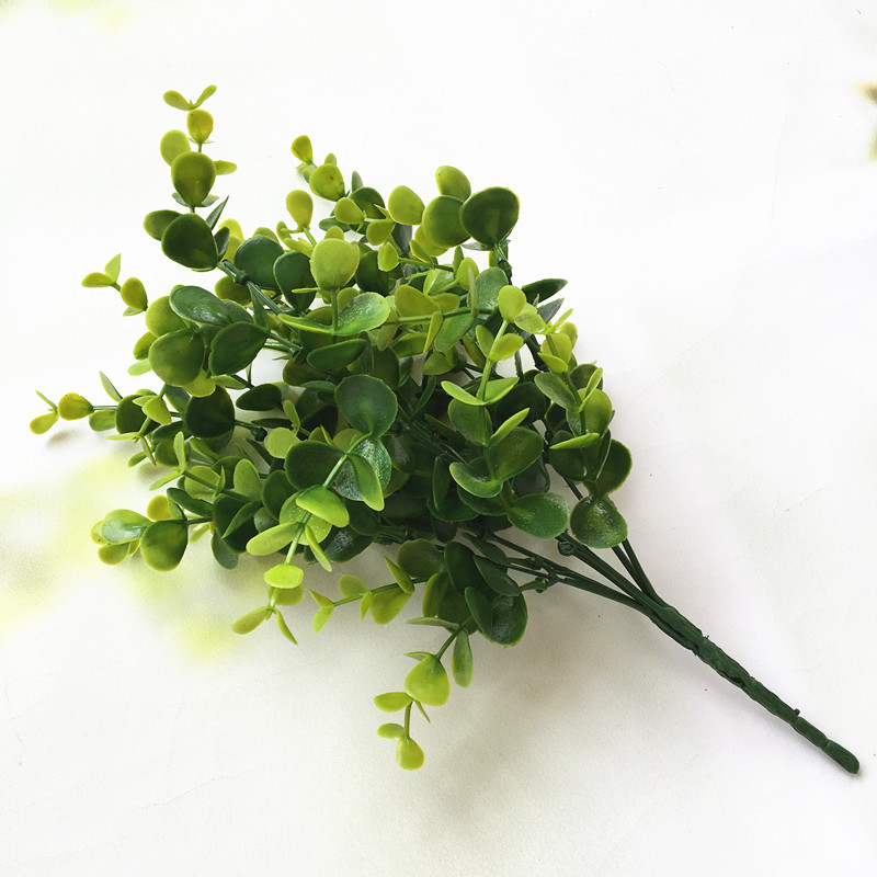 7Head Artificial leaf bouquet Photo background simulation of plant plastic flowers Free Shipping