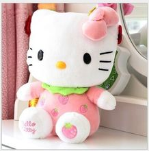 small cute plush fruits kitty toy strawberry kitty toy pink kitty toy perfect gift about 25cm