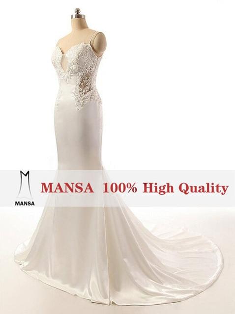 MANSA 2015Romantic White Sweetheart Lace Becah Mermaid Wedding Dresses Sexy  Backless Wedding Dress Vestidos De Noivas f1827b32f8bb