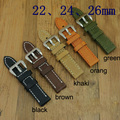 20MM 22MM 24MM 26MM Multicolor Italy Crazy Horse Leather Watch Band, Rough Type watch Strap For PAM And Big Watch,Free Shiping
