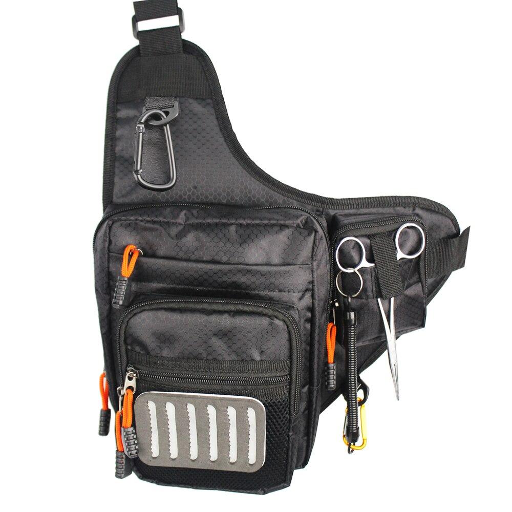 Нахлыстом сумка многоцелевой плеча открытый Спортивные сумки + кровоостанавливающее плоскогубцы + Anti потерянный канат + Fly комплекты площад...