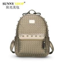 Солнечный магазин винтажные женские рюкзак высокое качество искусственная кожа сумка большая емкость женский молния клатч, сумки mb25