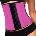 2016 Latex Corset  Waist Cincher Waist Trainer Waist Body Shapers Steel Boned Corselet 0092