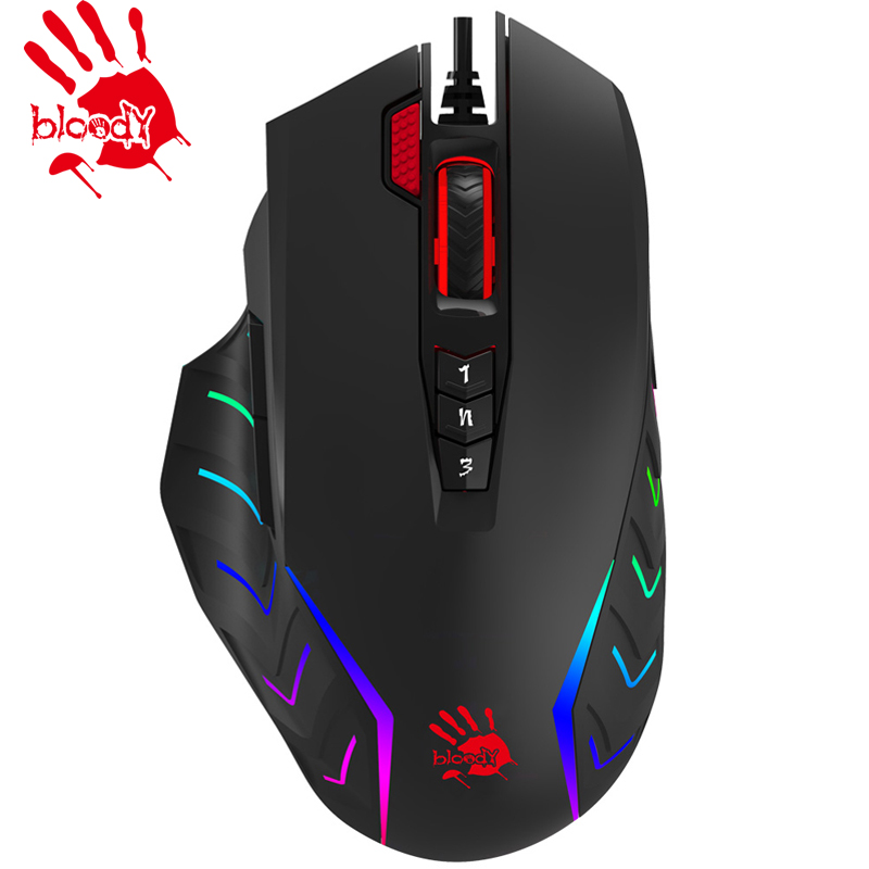 A4tech Bloody PUBG J95 2 FIRE RGB ANIMATION GAMING MOUSE