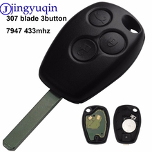 jingyuqin 433MHz PCF7947 Chip 3 Buttons Remote Control Key Cover Case Shell Fob For Renault /Kangoo II /Clio III