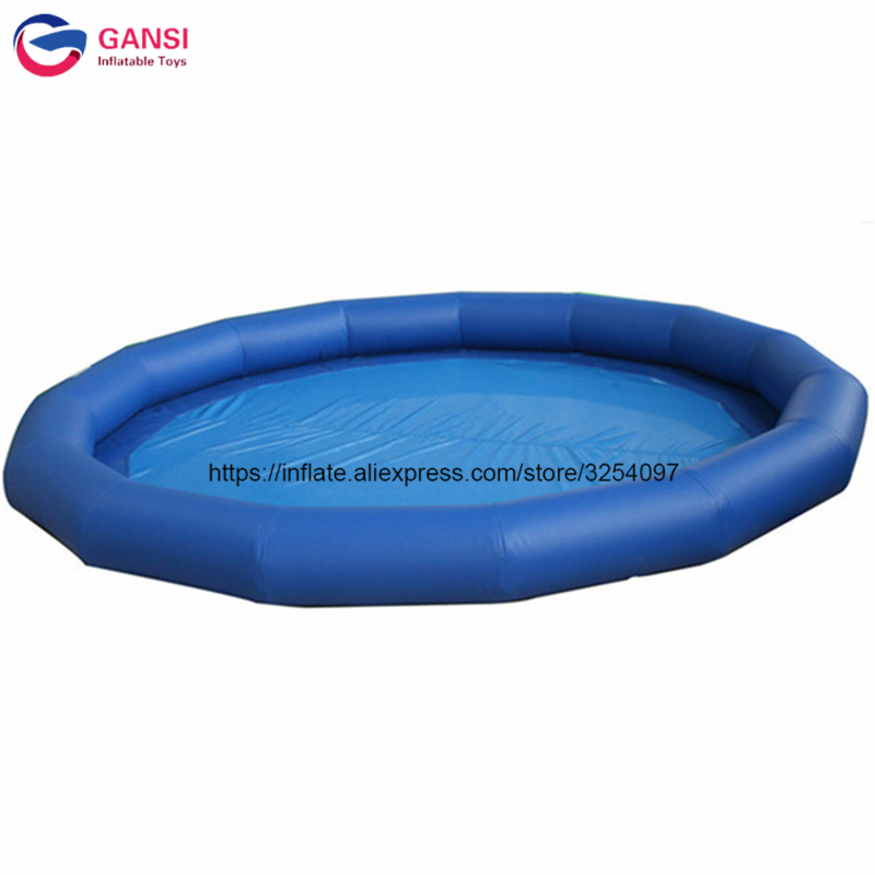8m round water play equipment blue color inflatable pool float ,commercial inflatable water pool for roller ball