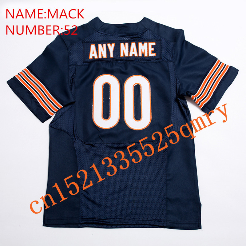 New 2018 #6 Baker Mayfield 52 Khalil Mack Football Jerseys Men/Women/Youth High Quality Stitched Logos&Name&Number Jerseys dos logos