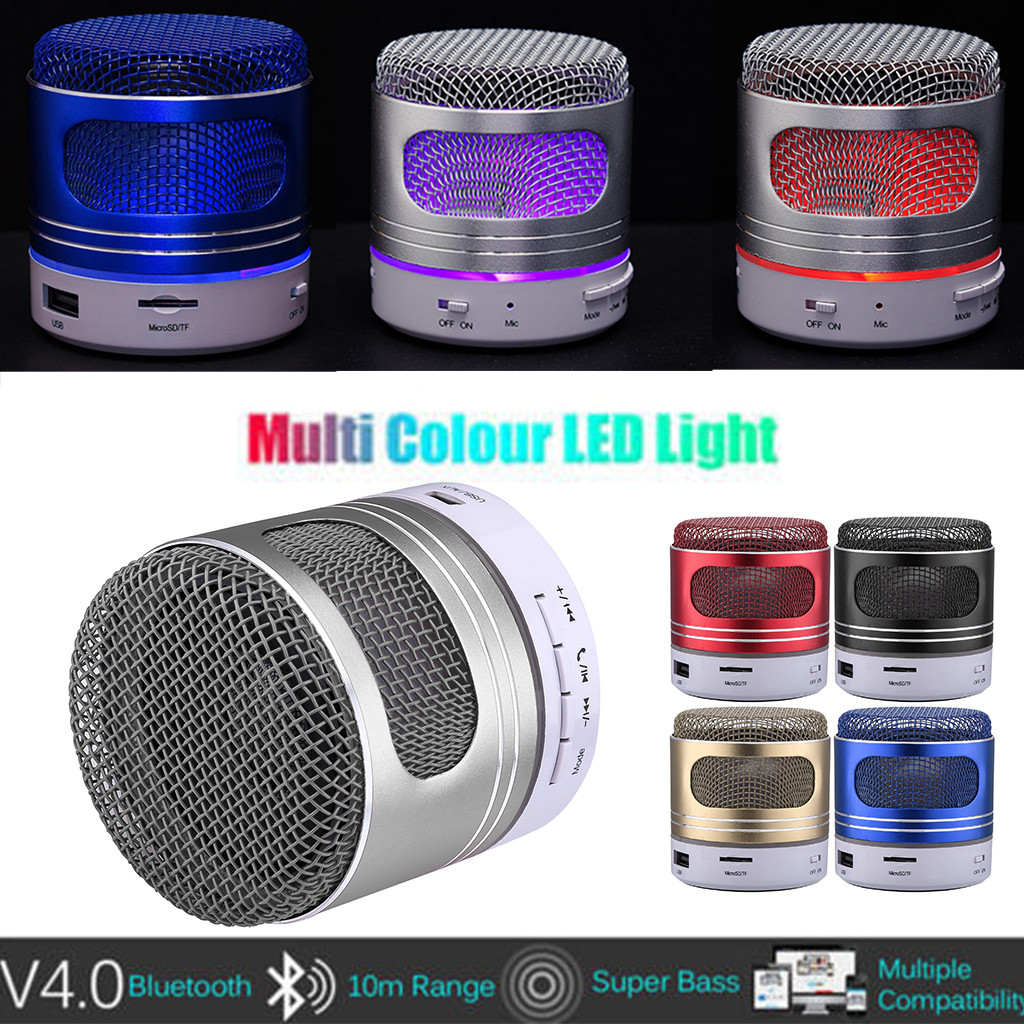 New Mini Portable LED Speaker USB Music Sound Subwoofer Box XMAS Super Bass