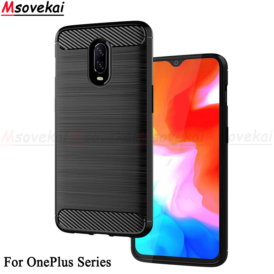 For OnePlus 6 6T OnePlus 7 Case Soft Silicon TPU Cover Carbon Fiber Case For OnePlus 5 5T OnePlus 7 Phone Case Fundas Back Cover
