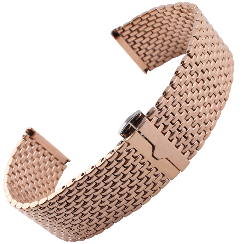 NESUN Free Shipping  Men's 316L Solid 22mm Stainless Steel Metal Watch Band/Strap Replacement For Armani Watches eache silicone watch band strap replacement watch band can fit for swatch 17mm 19mm men women