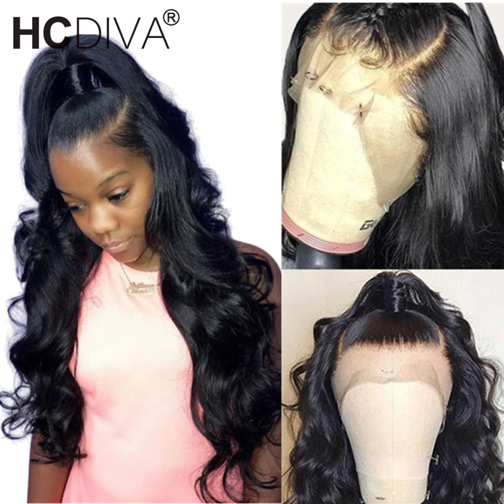 360 Lace Front Wig Pre Plucked With Baby Hair Body Wave Lace Front Wig For Black