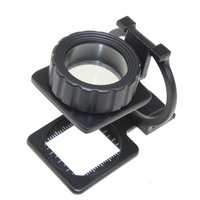 Hotsale Standing Magnifier 15X 20X 30X Light Illuminated Printers Loupe Metal Thread Counter Linen Tester Cloth