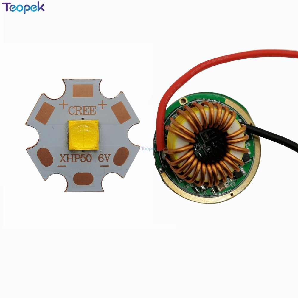 XHP50.2 Cold White Neutral White Warm White High Power LED Emitter 16mm 20mm Copper PCB +22mm 1 Mode / 3 Modes / 5 Modes Driver