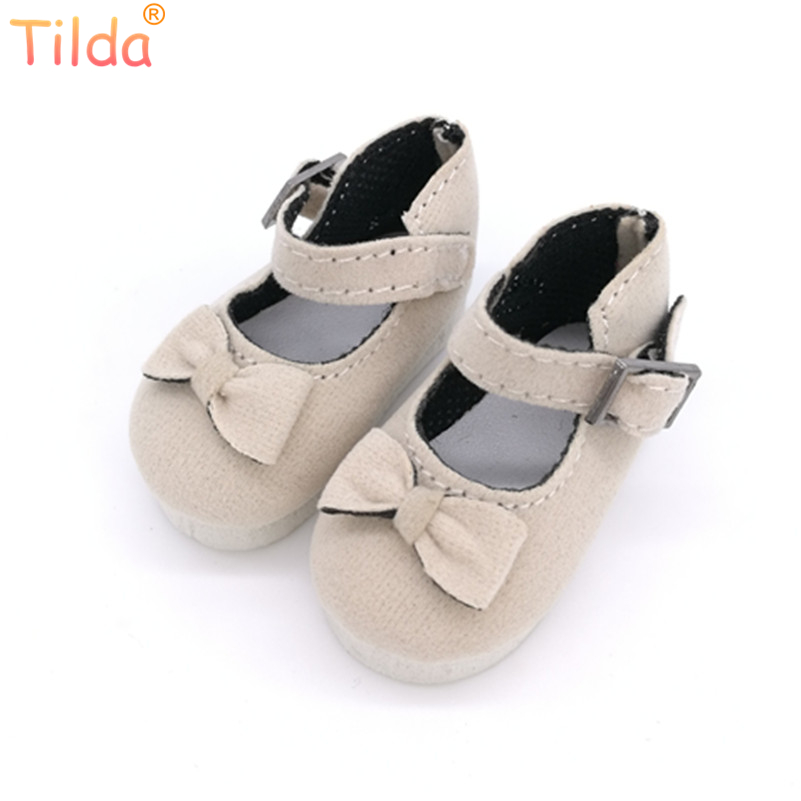 Tilda 5.6CM BJD Doll Shoes Causal Sneakers Accessories for Dolls,Mini Toy Boots with Bow,Fashion Shoes For Paola Reina Dolls canvas shoes for paola reina doll fashion mini toy gym shoes for tilda 1 3 bjd doll footwear sports shoes for dolls accessories