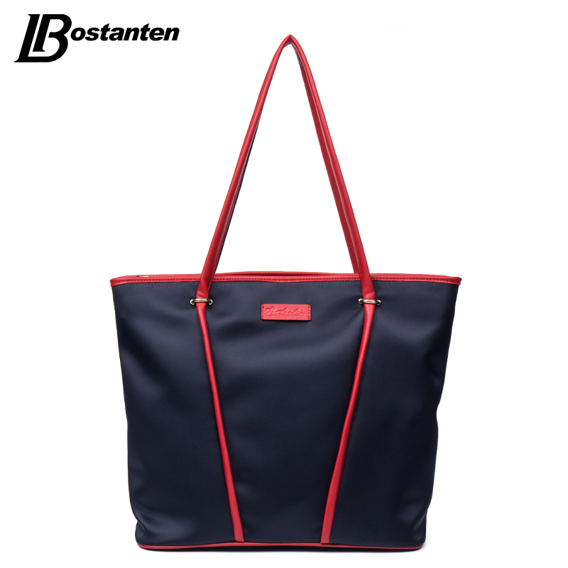 Bostanten Luxury Handbags Women Bags Designer Nylon Capacity Black Tote Bag Female Shoulder Bag Fashion Casual Handbag aosbos women shoulder bags multifunctional waterproof nylon handbag lady casual portable black tote bag female designer handbags