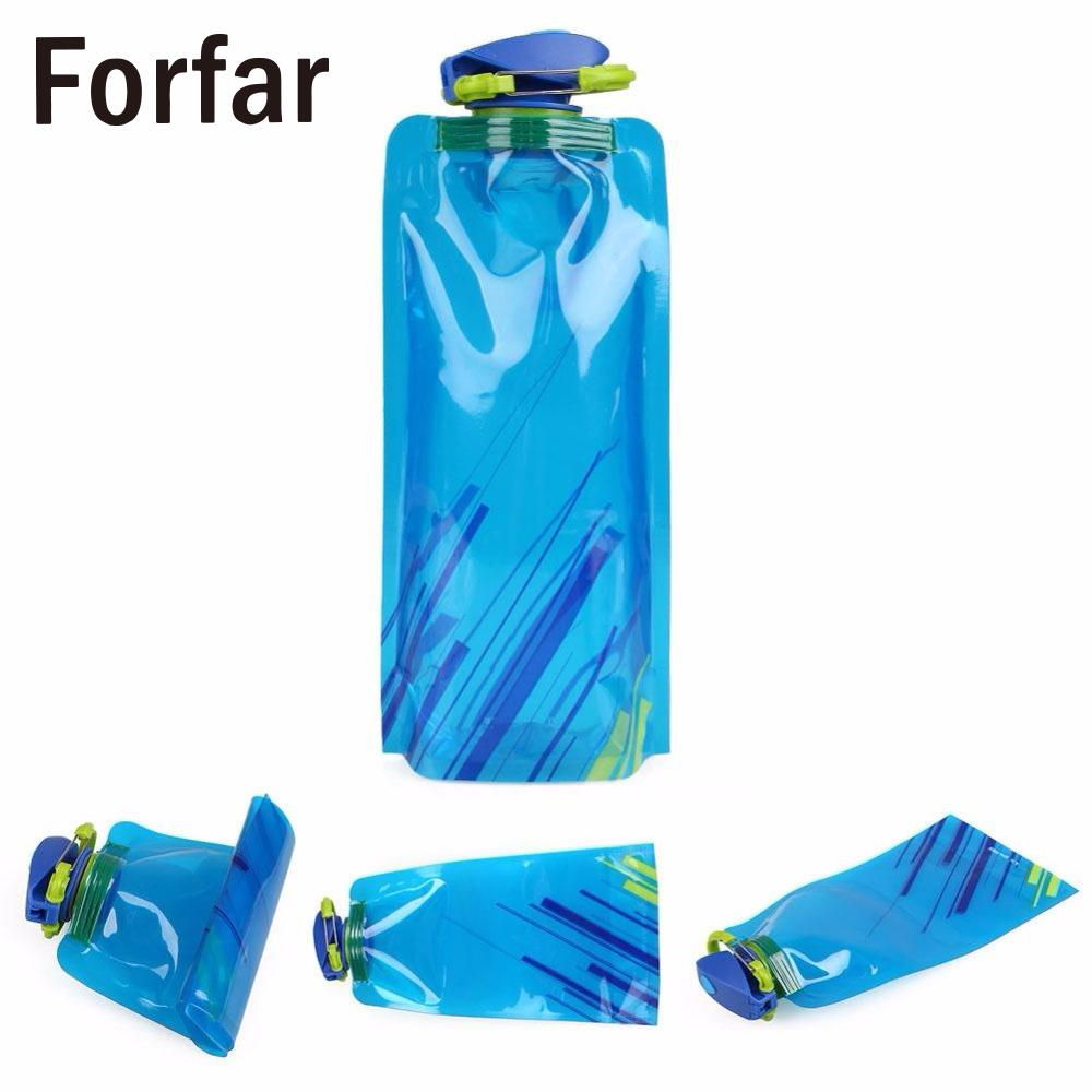 700ML Outdoor Sport Camping Foldable Collapsible Portable Hydration Drink Water Bag Bottle Hiking water bottle