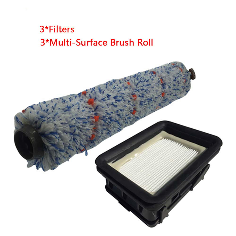 6pcs Multi Surface Brush Roll Filter Kit for Bissell Crosswave 1785 1785G 1785V 1785W Vacuum Cleaner
