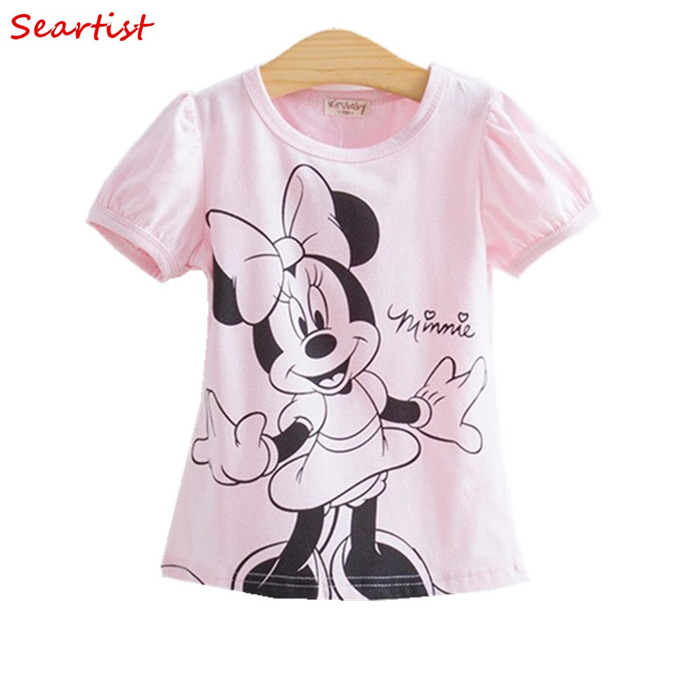Seartist Baby Girls Tshirt Girl Summer Short-Sleeved Casual T-shirts For Kids Children's Cotton Tops Girl's Summer Tee 2018 10 женская футболка other 2015 3d loose batwing harajuku tshirt t a50