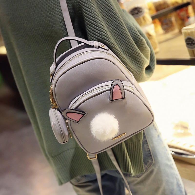 Korean version Japanese fashion Leisure Cute cartoo rabbit lovely Small fresh bag Cartoon travel woman Plush