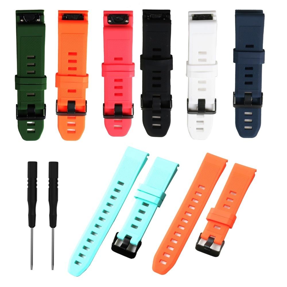 Replacement Smartwatch Band For Garmin Fenix 5 5X 3 5S Easyfit Silicone Sportwatch Strap For Garmin Descent Mk1 Forerunner 935D2