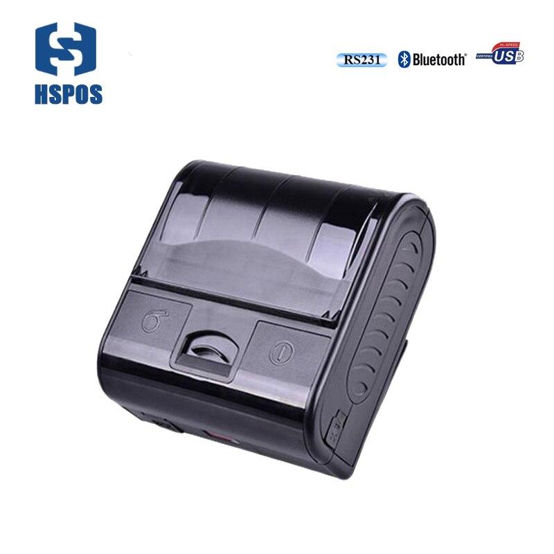 Термальность 80 мм POS мобильный мини-принтер портативный <font><b>Bluetooth</b></font> чековый принтер mpt3 прямой Термальность печать водонепроницаемый RS232 <font><b>impressora</b></font>