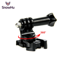 цена на SnowHu 360 Degree Rotate J-Hook Buckle Base Vertical Surface Mount Adapter For GoPro Hero 7 6 5 4 For xiaomi yi 4K Sjcam GP203B