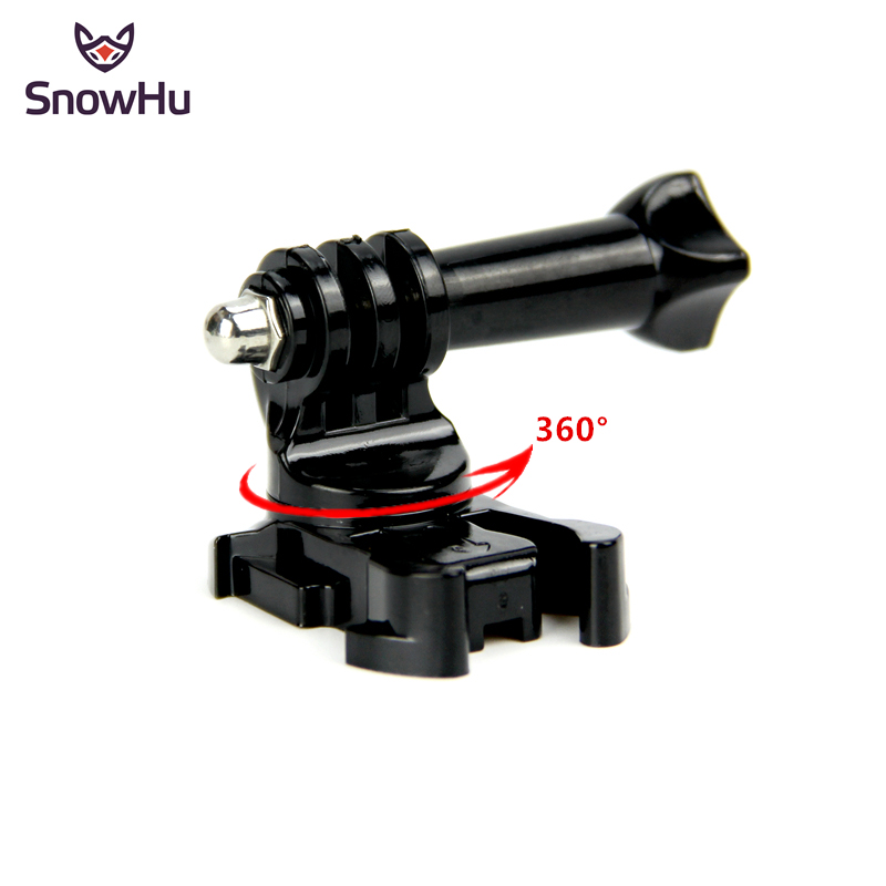SnowHu 360 Degree Rotate J-Hook Buckle Base Vertical Surface Mount Adapter For GoPro Hero 8 7 6 5 4 For Xiaomi Yi 4K Eken GP203B