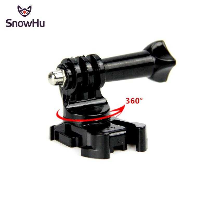 SnowHu 360 Degree Rotate J-Hook Buckle Base Vertical Surface Mount Adapter For GoPro Hero 8 7 6 5 4 For Xiaomi Yi 4K Eken GP203B