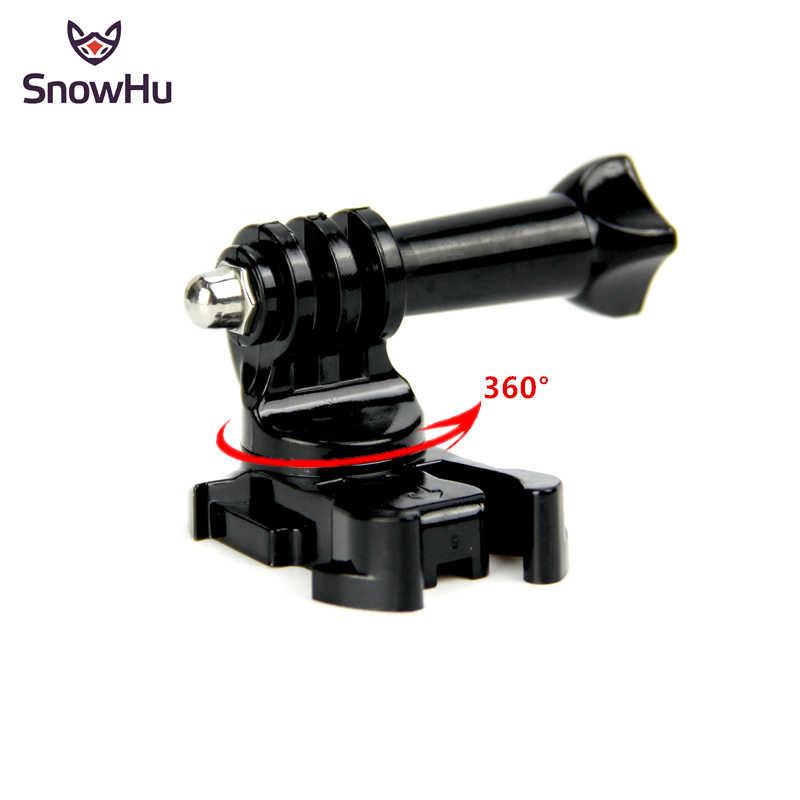 SnowHu 360 Gradi di Rotazione J-Hook Fibbia di Base Verticale Superficiale Adattatore di Montaggio Per GoPro hero 8 7 6 5 4 per xiaomi yi 4K eken GP203B