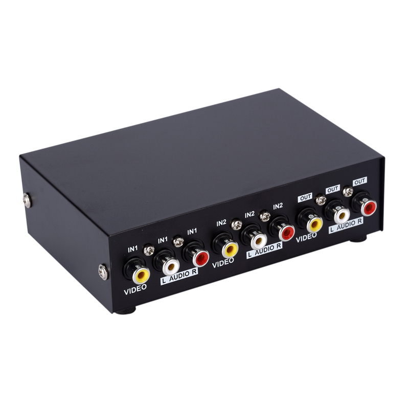Mt Viki Rca Av Switch 2 Input 1 Output Audio Video