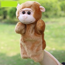 1pcs Children Game Finger Puppets Monkey Doll Baby Education Hand Toys Stuffed Soft Animals Toys Christmas Gift D148