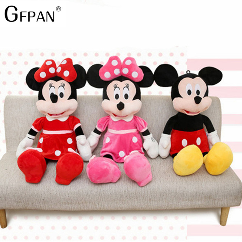 High Quality Hot Sale 100/40cm Stuffed Mickey&Minnie Mouse Plush Toy Dolls Birthday Christmas Gifts For Kids Baby Children