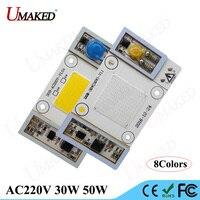 1 unid AC220V de Alta Potencia de Chips LED 30 W 50 W Conductor LED granos ligeros Bombilla MAZORCA lámpara de bolas Caliente/Natural Blanco/Fresco/Espectro Completo/Azul