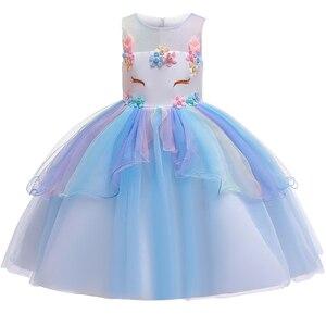 Image 3 - 女の子ユニコーン衣装ガール虹花チュチュドレスとユニコーンヘッドバンドホーン花のヘアフープセット子供のための誕生日のテーマ