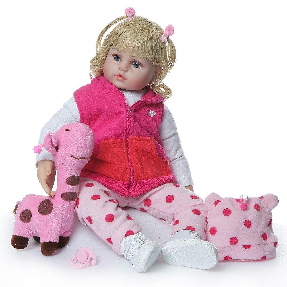 Image 5 - NPKCOLLECTION 48cm boneca reborn silicone reborn baby dolls com corpo de silicone menina baby dolls kids birthday Christmas gift-in Dolls from Toys & Hobbies