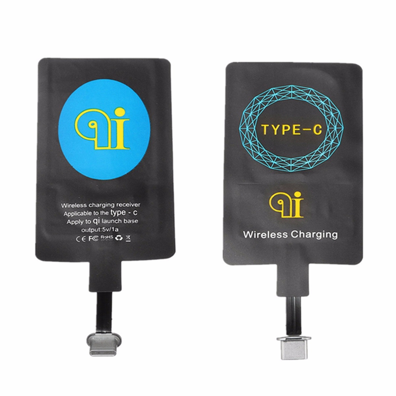 Qi Wireless Charging Type C USB Charger Adapter Receiver Launch Charger Pad For Huawei Honor 8 P9 For Letv For Vivo X For ZUK/4C