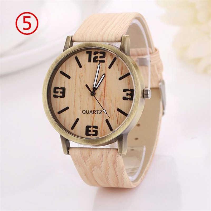 Relojes Vintage para mujer, relojes de grano de madera, reloj de cuarzo para mujer, pulsera analógica, reloj de pulsera de cuarzo, reloj femenino 40