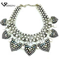 Fashion full glasses new brand necklaces & pendants  2016 LUXURY fashion jewelry chunky necklace vintage elegant jewelry