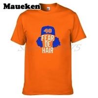 Männer New York 48 Jacob DeGrom Angst De Haar T-shirt Kurzarm T-shirt männer Mets Mode W1203036