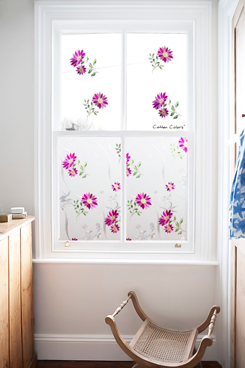 CottonColors Window Privacy Films Home Decorative No Glue 3D Static Flower PVC Decoration Window Glass Sticker Size 60 x 200cm in Decorative Films from Home Garden