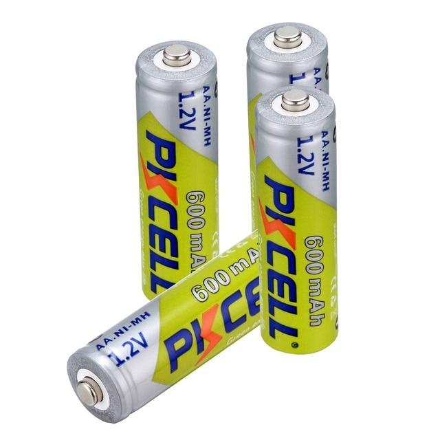4 ~ 32 חתיכות Pkcell 1.2 V AA 600 mAh Ni MH סוללה נטענת nimh סוללות עבור בית גן אורות שמש