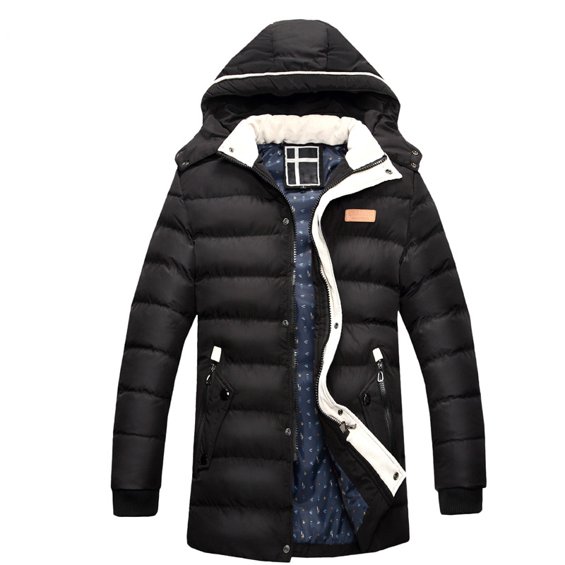 Подробнее о 2016 New Winter Jacket Men  Fashion Men's Down Jacket Casual Thick Outwear Hooded Fur Coats Warm Winter Men Jackets Plus Size winter jacket men coats thick warm casual fur collar winter windproof hooded outwear men outwear parkas brand new