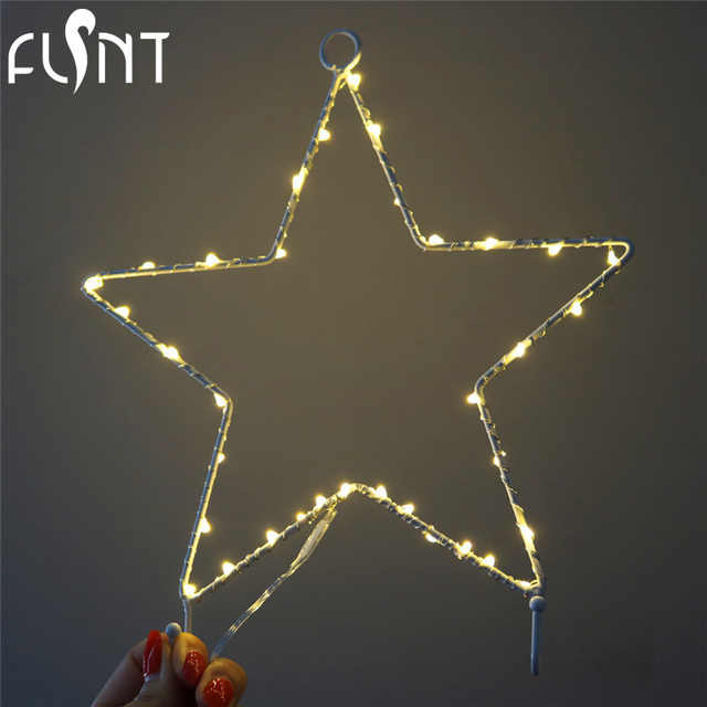 Blanc Chaud Led Lampe Etoile Coeur Lune Arbre De Noel 2 Aa